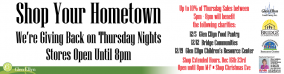 Shop Thursday nights (5-8pm) in Downtown Glen Ellyn